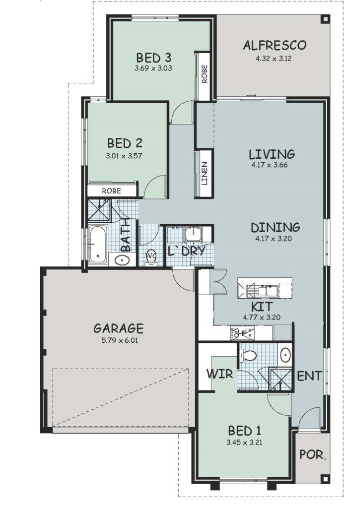 The 'Beaufort' Floor Plan