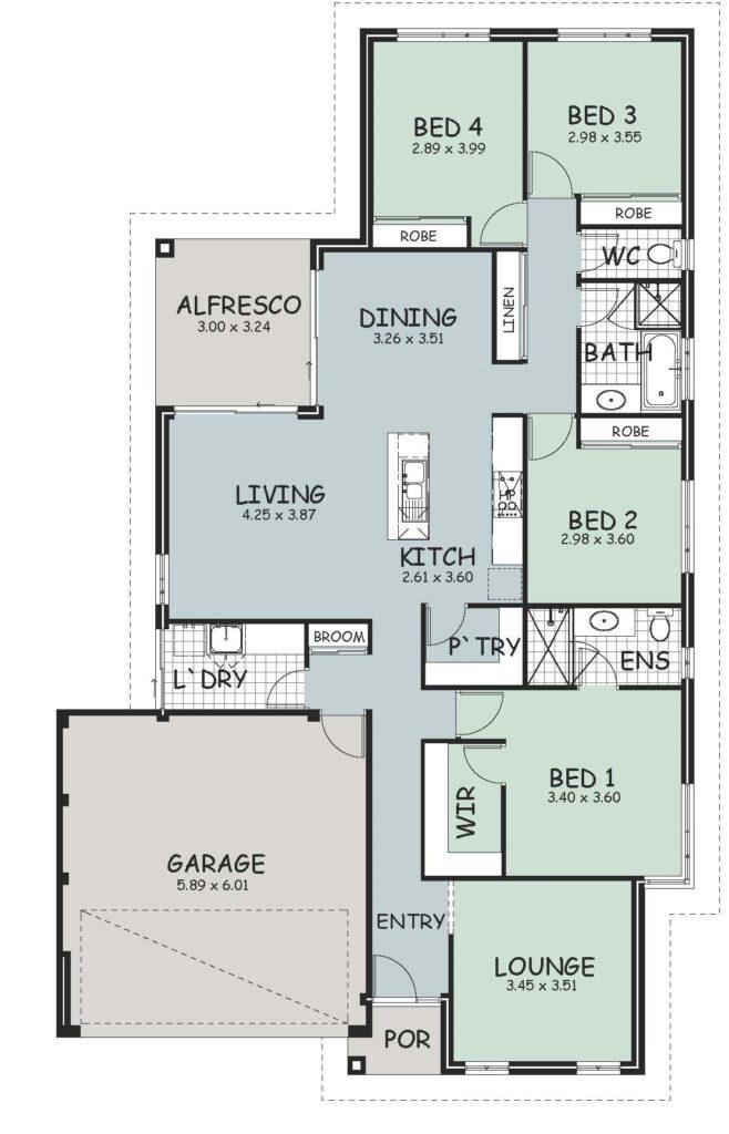 The 'Rosewood' Floor Plan